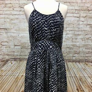 Banana Republic Dress Size 12 A-Line Blue Gray